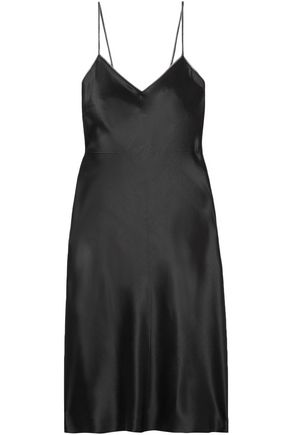 HELMUT LANG Embellished silk-satin mini dress