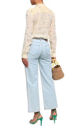 VANESSA BRUNO Embroidered ramie-gauze blouse