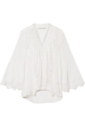 ALICE + OLIVIA Jaden lace-paneled gauze blouse