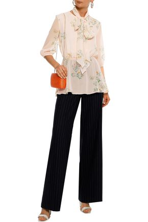 052ca6a0f92ea MAX MARA Agiate pussy-bow floral-print silk-chiffon blouse