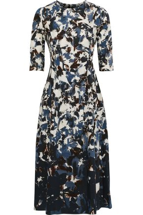 MAX MARA Utopia printed cotton-poplin midi dress