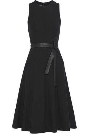 NARCISO RODRIGUEZ Belted wool-twill dress