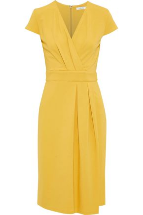 MAX MARA Feluca wrap-effect pleated stretch-cady dress