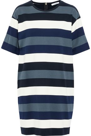 MAX MARA Tefrite striped stretch-knit mini dress