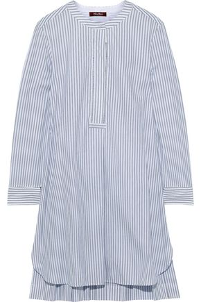 MAX MARA Carisma striped cotton-poplin mini shirt dress