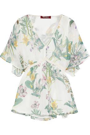 MAX MARA Pier tie-back floral-print silk-chiffon blouse
