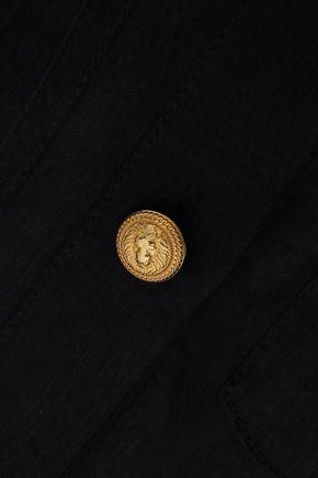 BALMAIN Button-detailed woven shirt