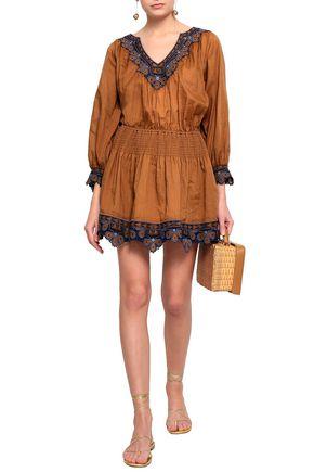 VANESSA BRUNO Embroidered gauze mini dress