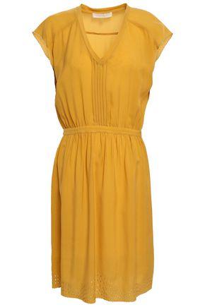 VANESSA BRUNO Pintucked embroidered jacquard dress