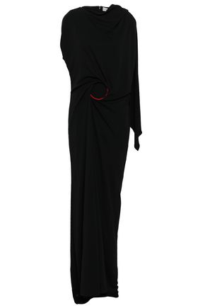 CHALAYAN Draped stretch-jersey gown