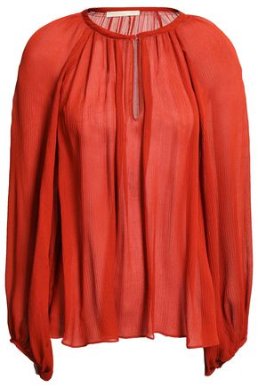 VANESSA BRUNO Plissé silk-crepe blouse