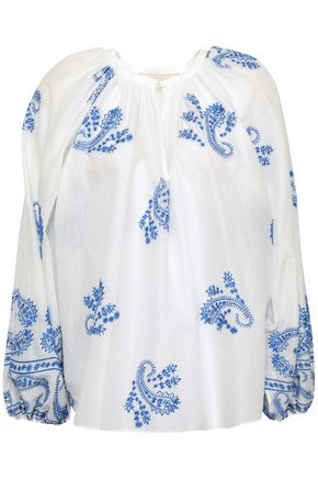 VANESSA BRUNO Iborra embroidered cotton-voile blouse