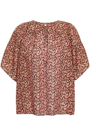 VANESSA BRUNO Floral-print jacquard blouse