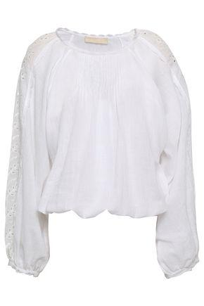 VANESSA BRUNO Embroidered cotton-blend blouse