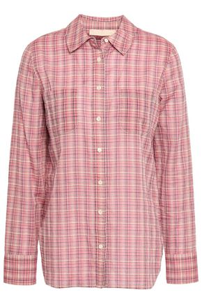 VANESSA BRUNO Checked cotton-blend shirt