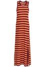 JAMES PERSE Striped slub cotton-jersey maxi dress
