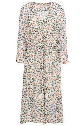VANESSA BRUNO Tassel-trimmed printed silk midi dress