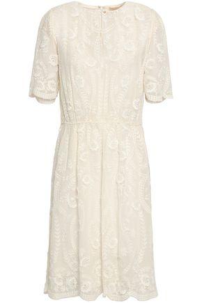 VANESSA BRUNO Gathered embroidered silk-georgette dress