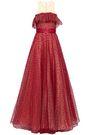 JENNY PACKHAM Grosgrain-trimmed flared flocked tulle gown