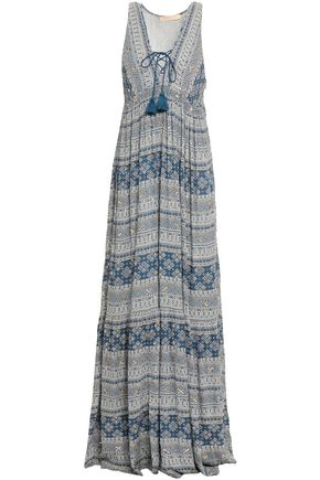 VANESSA BRUNO Embellished printed gauze maxi dress