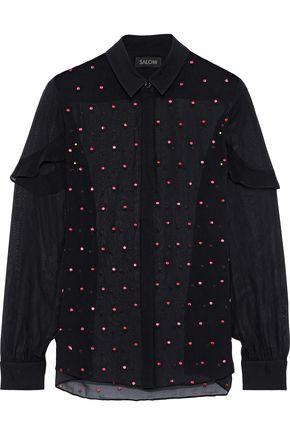 SALONI Myrab embroidered silk shirt