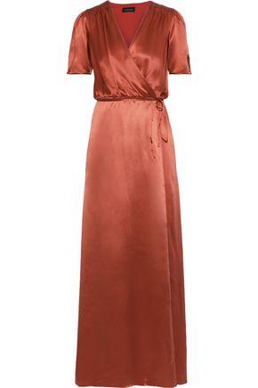 SALONI Lea silk-charmeuse maxi wrap dress