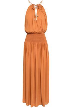 VANESSA BRUNO Smocked twill maxi dress