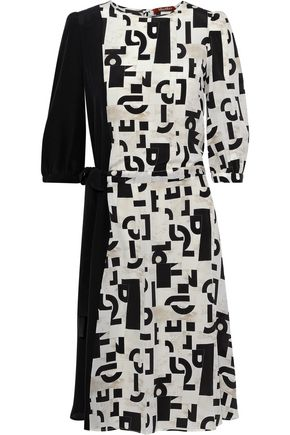 MAX MARA Peana asymmetric printed silk dress