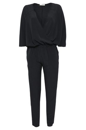 VANESSA BRUNO Wrap-effect crepe jumpsuit