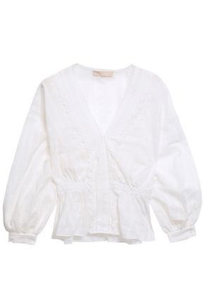 VANESSA BRUNO Crochet-trimmed broderie anglaise cotton blouse