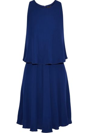 MAX MARA Layered crepe dress