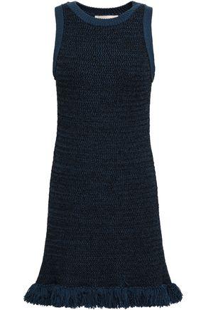 VANESSA BRUNO Fringe-trimmed cotton-blend mini dress