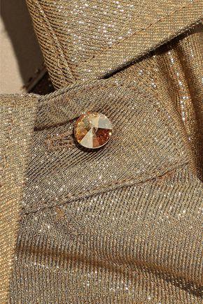 MAX MARA Anima metallic twill shirt