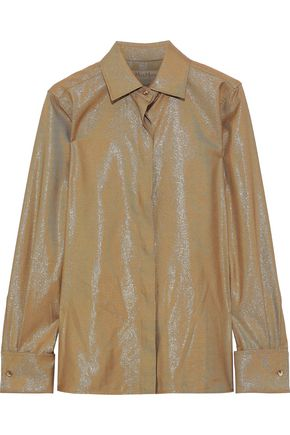 MAX MARA Anima metallic twill shirt