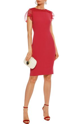 ecad95f4277 MAX MARA Katana gathered organza-trimmed cady dress