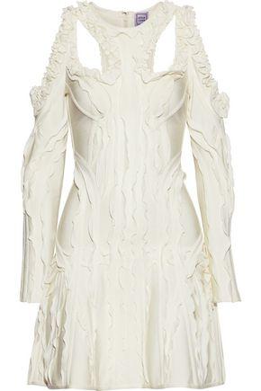 HERVÉ LÉGER Natalija cutout ruffle-trimmed bandage mini dress