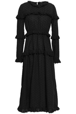 GOEN.J Ruffle-trimmed broderie anglaise cotton midi dress