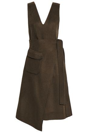 GOEN.J Wrap-effect wool and cashmere-blend felt midi dress