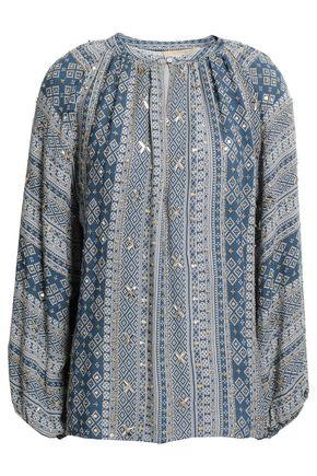VANESSA BRUNO Giovane sequined printed crepe blouse