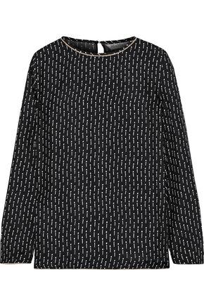 MAX MARA Curt printed silk-twill top