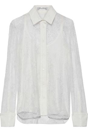 MAX MARA Cometa Chantilly lace shirt