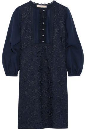 VANESSA BRUNO Chiffon-paneled embroidered gauze mini dress
