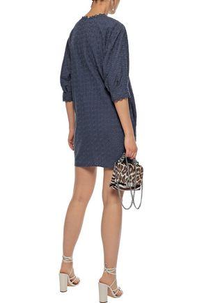 VANESSA BRUNO Isolde embroidered cotton-gauze mini dress