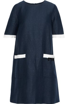 MAX MARA Nepeta embellished cotton, ramie and silk-blend mini dress