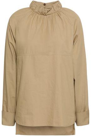 GOEN.J Ruched cotton-poplin blouse