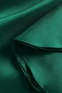 BADGLEY MISCHKA Ruffled duchesse satin-twill gown