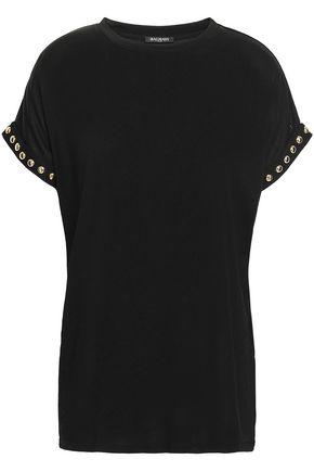 BALMAIN Studded jersey T-shirt