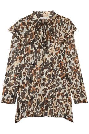 SONIA RYKIEL Leopard-print silk-chiffon blouse