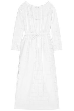 SONIA RYKIEL Broderie anglaise cotton midi dress