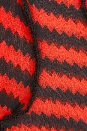 SONIA RYKIEL Striped tulle top